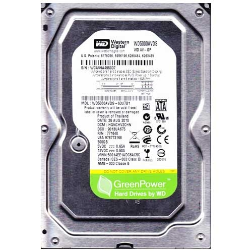 Western Digital AV-GP WD5000AVDS (500GB)